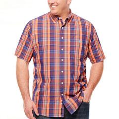 U.S. Polo Assn. Short Sleeve Button-Front Shirt-Big and Tall