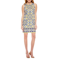 London Style Sleeveless Shift Dress