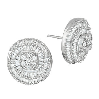 1 Ct Tw Genuine White Diamond 10k Gold Stud Earrings