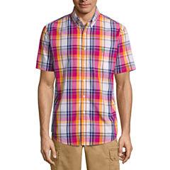 U.S. Polo Assn.® Short-Sleeve Plaid Poplin Sport Shirt