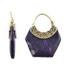 Art Smith by BARSE Genuine Purple Howlite Earrings