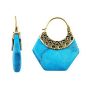 Art Smith by BARSE Genuine Blue Howlite Earrings
