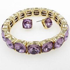 Vieste Rosa Womens 2-pc. Purple Brass Jewelry Set