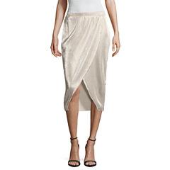 Belle + Sky Woven Wrap Skirt Petites