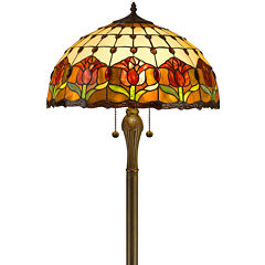 Amora Lighting AM002FL18 Tiffany Style Tulips Floor Lamp 18-Inch Shade