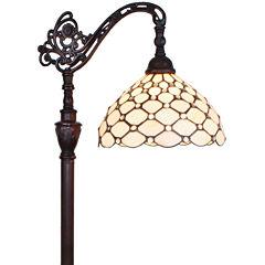 Amora Lighting AM028FL12 Tiffany Style 62-inch Jeweled Reading Floor Lamp