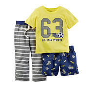 Carter's® 3-pc. All-Star Pajama Set - Baby Boys 12m-24m