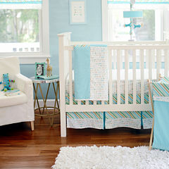 My Baby Sam Follow Your Arrow Aqua 3-pc. Baby Bedding