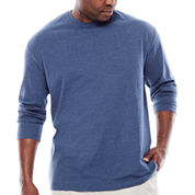 The Foundry Supply Co.™ Long-Sleeve Solid Cotton Tee - Big & Tall
