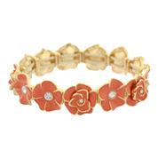 Gloria Vanderbilt Womens Crystal Stretch Bracelet