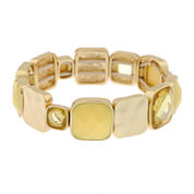 Gloria Vanderbilt Womens Yellow Stretch Bracelet