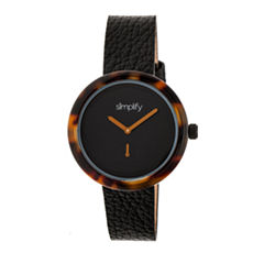 Simplify The 3700 Unisex Black Strap Watch-Sim3703