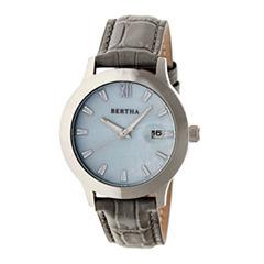 Bertha Eden Womens Gray Strap Watch-Bthbr6502