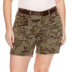 Union Bay Midi Shorts-Juniors Plus