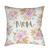 Decor 140 Floral Mom Square Throw Pillow