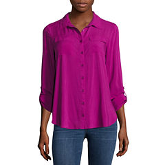 a.n.a Button Front Flap Pocket Shirt