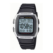 Casio® Mens Square Black Resin Strap Digital Sport Watch W96H-1AVOS