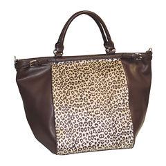 Adrienne Landau Faux Cheetah Fur Tote