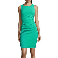 Bisou Bisou® Sleeveless Side-Ruched Sheath Dress