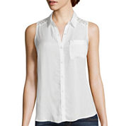 Arizona Sleeveless Button-Front Shirt