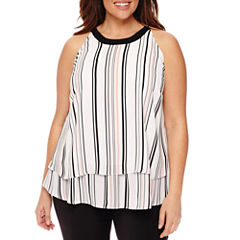 Worthington® Sleeveless Layered Tank - Plus