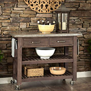 Concrete Chic Wood Outdoor Kitchen Cart