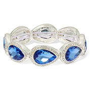 Monet® Blue Stone and Silver-Tone Stretch Bracelet