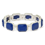 Liz Claiborne® Blue Stone Stretch Bracelet