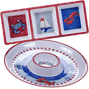Certified International Maritime 2-pc. Melamine Appetizer Set