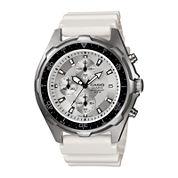 Casio Mens White Resin Strap Chronograph Watch AMW380-7AV