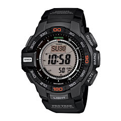 Casio ProTrek Mens Black Resin Strap Solar Chronograph Watch PRG270-1