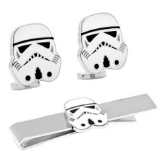 Star Wars™ Storm Trooper™ Tie Bar & Cuff Links Gift Set