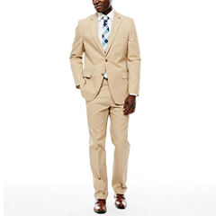 Stafford® Khaki Cotton Suit Separates - Classic Fit