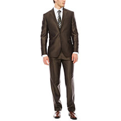 JF J. Ferrar® Brown Shimmer Slim-Fit Suit Separates