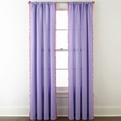 Home Expressions™ Pom Pom Rod-Pocket Curtain Panel