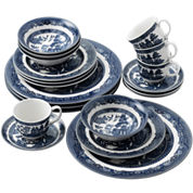 Johnson Brothers Willow Blue 20-pc. Dinnerware Set