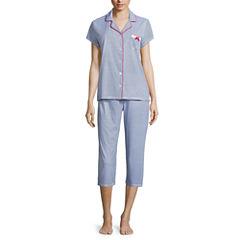 Laura Ashley Cotton Blend Pant Pajama Set