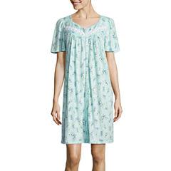 Adonna Jersey Short Sleeve Leaf Nightgown