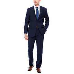 Stafford Travel Stretch Navy Double WP Suit Separates-Classic Fit