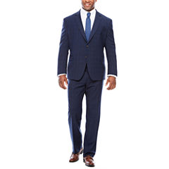 Stafford Travel Stretch Navy Double WP Suit Separates-Big and Tall