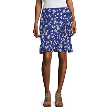 Mixit Womens Mid Rise Short Wrap Skirt