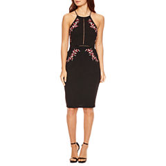 Bisou Bisou SleevelessFully Lined Sheath Dress