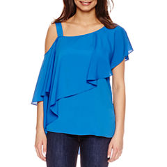 Bisou Bisou One Shoulder Drape Top