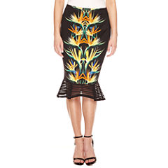 Bisou Bisou Flutter Peplum Pencil Skirt