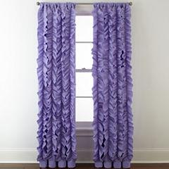 Home Expressions™ Laila Ruffle Rod-Pocket Sheer Curtain Panel