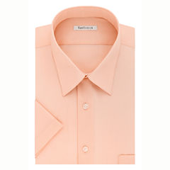 Van Heusen Easy-Care Poplin Big And Tall Short Sleeve Dress Shirt