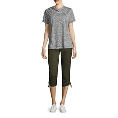 Made for Life Short Sleeve Hooded T-shirt or Woven Capris