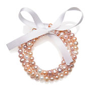 Multicolor Cultured Freshwater Pearl 4-pc. Stretch Bracelet Set