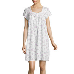 Adonna Jersey Short Sleeve Nightgown-Petites
