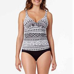 Liz Claiborne Santorini Stripe Tankini Swimsuit Top or Swim Skirt